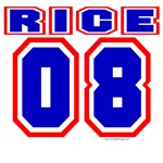 Rice 08 Varsity Style T-shirts & Gifts