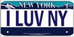 I Love New York Vanity Plate