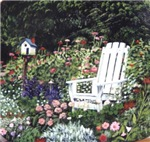 White Chair in Garden