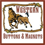 Western buttons and magnets