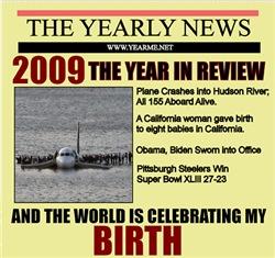 born in 2009 birthday gift