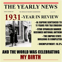 born in 1931 birthday gift