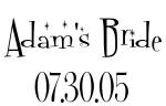 Adam's Bride 07.30.05