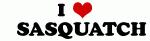 I Love    SASQUATCH