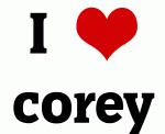 I Love corey