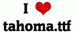 I Love tahoma.ttf