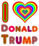 Rainbow Neon I love Donald Trump