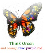Think Green blue purple