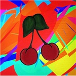 Cherries on Abstract