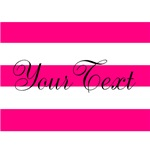 Personalizable Pink Stripes