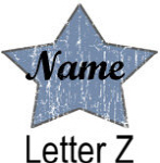 Blue Star names - Letter Z
