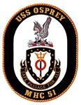 USS Osprey MHC-51 Navy Ship