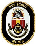 USS Scout MCM 8 US Navy Ship