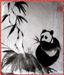 Panda, Chinese brush painting