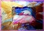 Flamingo, wildlife art,