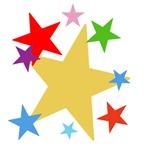 Stars! Bright, colorful, fun!