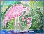 Flamingo, bird art