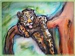 Leopard, wildlife, cat art!