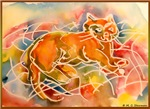 Cat! Colorful pet art!