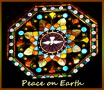 Peace, dove, stained glass, photo