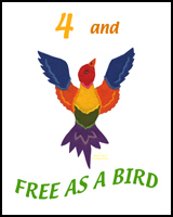4 YEARS OLD AND FREE AS A BIRD