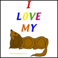 I LOVE MY DOG T-SHIRTS & CLOTHING