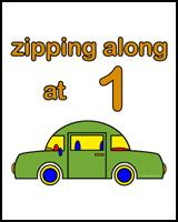 1st BIRTHDAY T-SHIRTS CAR