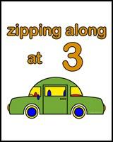 ZIPPING ALONG AT 3 YEARS OLD