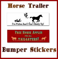 WESTERN HORSE TRAILER & BUMPER STICKERS