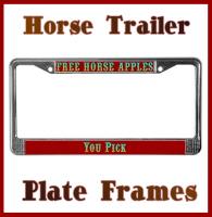 Horse Trailer & Western License Plate Frame