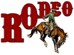 Vintage Rodeo Bronc Rider