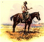 Americana Cowboy on Range