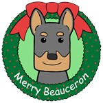 Beauceron Christmas Ornaments