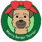 Border Terrier Christmas Ornaments