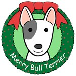 Bull Terrier Christmas Ornaments