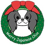 Japanese Chin Christmas Ornaments