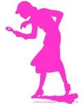 Nancy Drew Pink Silhouette