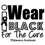 I Wear Black For The Cure Melanoma T-Shirts
