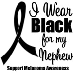 I Wear Black Ribbon (Nephew) Melanoma T-Shirts