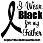 I Wear Black Ribbon (Father) Melanoma T-Shirts