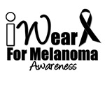 I Wear Black Ribbon Melanoma Awareness T-Shirts &