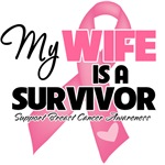 My Wife is a Breast Cancer Survivor Shirts