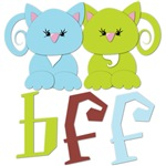 BFF Best Friends Forever Cats