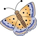 Cute Blue & Yellow Butterfly