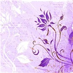 Grunge Violet_Floral