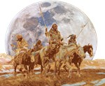 Indian Hunting Party Silver Moon