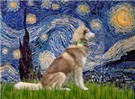 STARRY NIGHT<br>& Siberian Husky(RED)