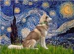 STARRY NIGHT<br>& Siberian Husky(RED)