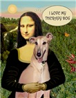 MONA LISA & HER<br>Greyhound Therapy Dog (F)