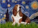 STARRY NIGHT<br>& Basset Hound